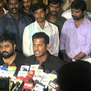 Vishal's urgent press meet