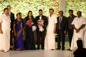 Le Meridian Hotel Chairman Palani G Periasamy Daughter Ananthi - Vinoth Wedding Reception